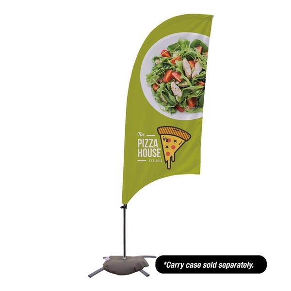 7.5' Value Razor Sail Sign - 2-Sided with Cross Base