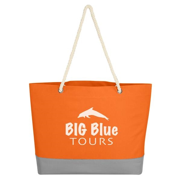 Boca Tote Bag With Rope Handles - Polyester tote bag with rope handles