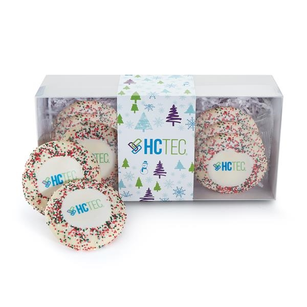 Sugar Cookie Gift Box - Holiday Nonpareil Sprinkles