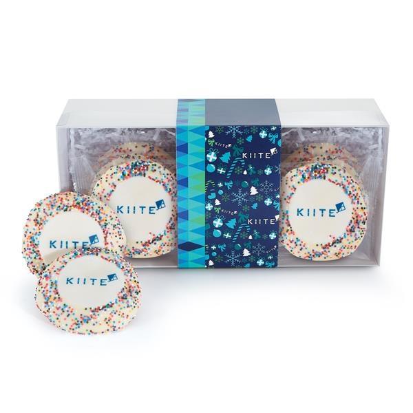 Sugar Cookie Gift Box - Rainbow Nonpareil Sprinkles