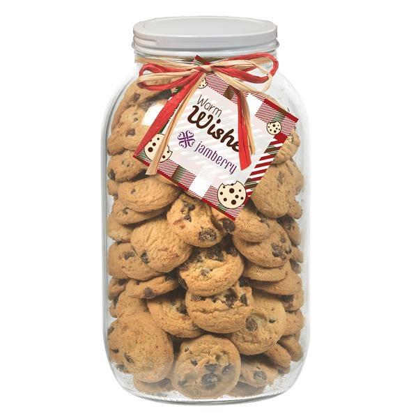 64 oz. Mason Cookie Jar with Mini Chocolate Chip Cookies