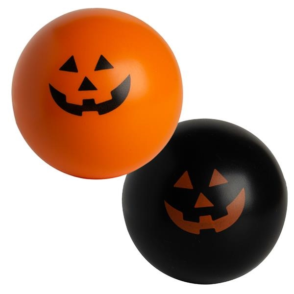 Jack-O-Lantern Ball Squeezies® Stress Reliever