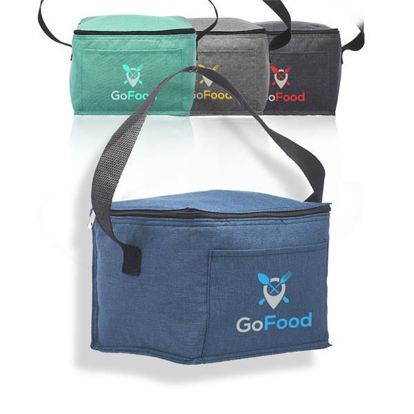 Heathered 6 Pack Insulated Cooler Lunch