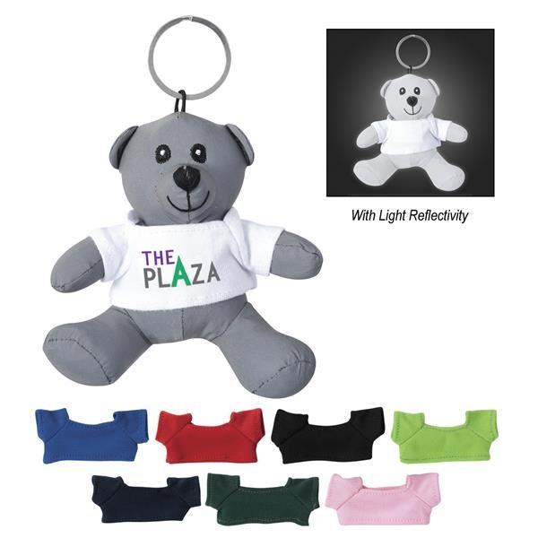 Mini Reflective Bear Key Tag