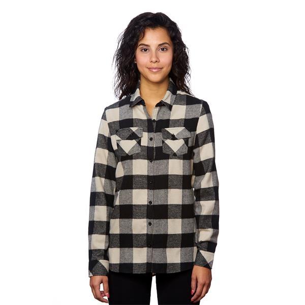Ladies Plaid Flannel Shirt