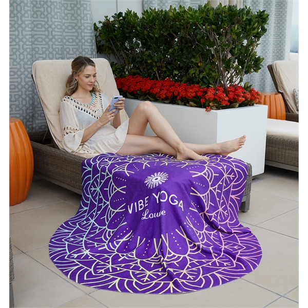 Pro Vision Round Beach Towel