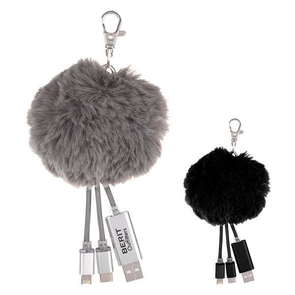 3-In-1 Pom Puff Charging Cable