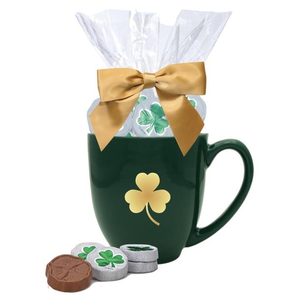 Chocolate Shamrocks Gift Mug