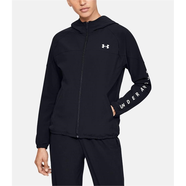 Under Armour UA Women's Woven Branded Hoodie Jacket