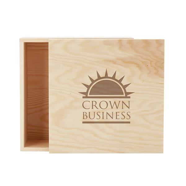 8 x 8 Large Square Wooden Box