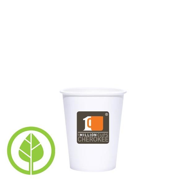 8 oz. Eco-Friendly PLA Single Wall White Paper Hot Cup