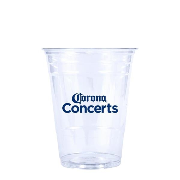 16 oz. Soft-Sided Clear PET Plastic Disposable Cup