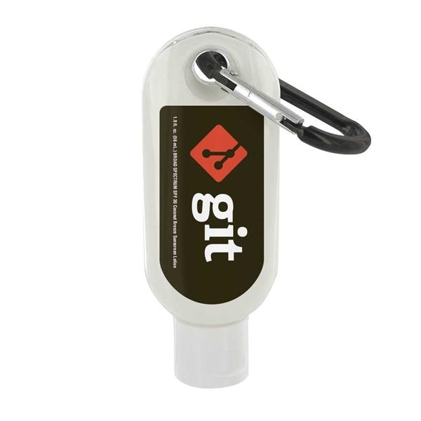 Custom 1.9 oz. SPF 50 Sunscreen w/ Carabiner - Out of Stock!