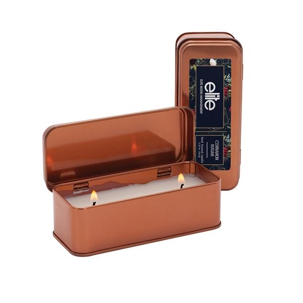 Custom 5 oz. Scented Copper Rectangular Candle