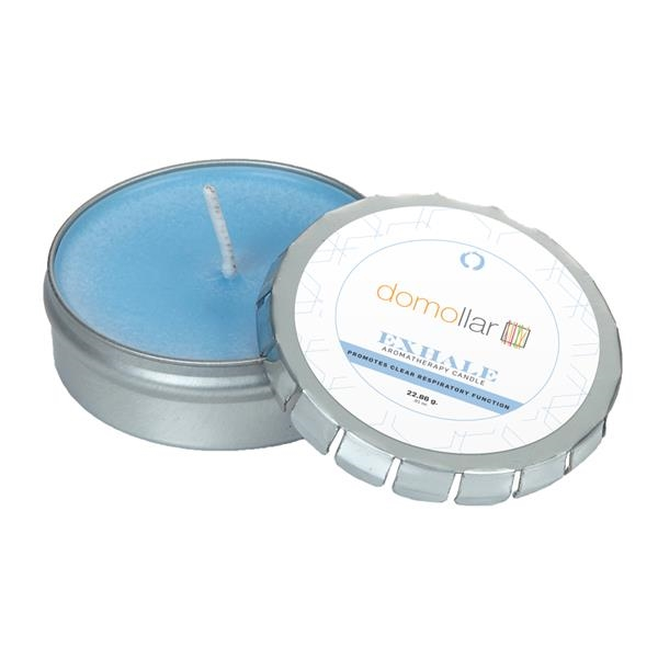 Custom Aromatherapy Candle in Large Silver Push Tin