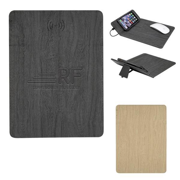 Woodgrain Wireless Charging Mouse Pad Wi