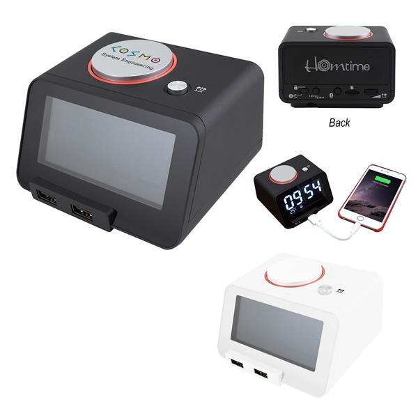 Homtime 3-In-1 Alarm Clock With Speaker