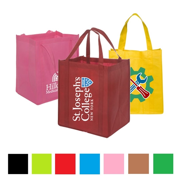 Non Woven Tote bags w/ Gusset Reusable Custom Grocery Totes