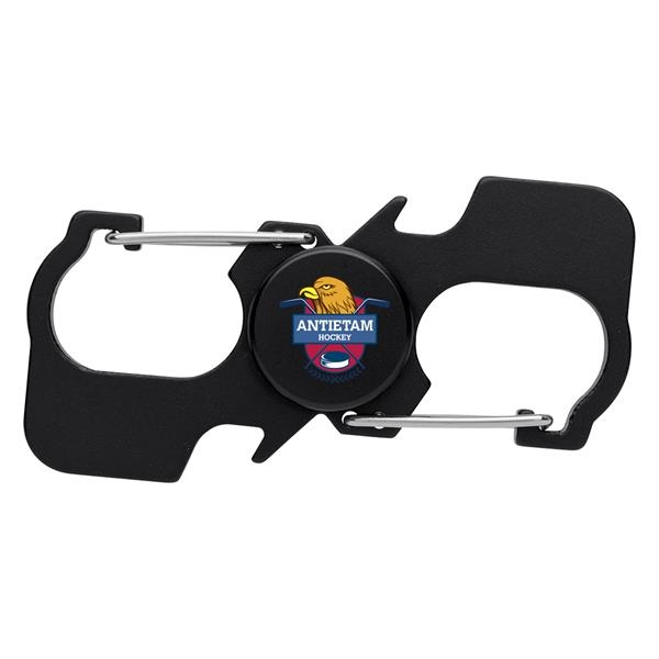 Carabiner Fun Spinner With Bottle Openers