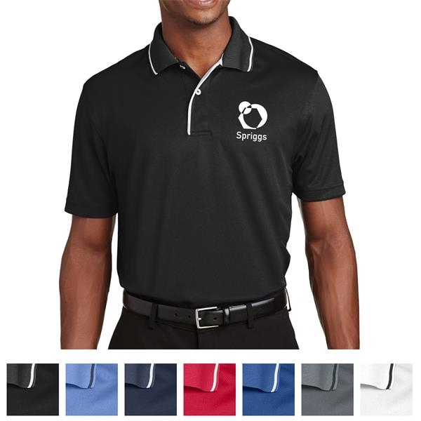 Sport-Tek Dri-Mesh Polo with Tipped Collar and Piping