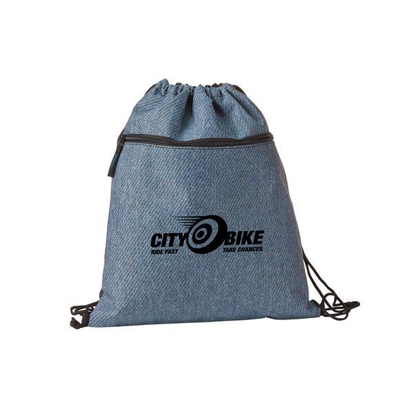 Twill Drawstring Backpack