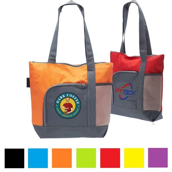 Two-Tone Tote Bag Polyester Canvas Tote