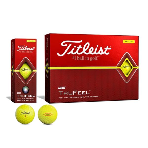 Titleist TruFeel Yellow Golf Ball - Dozen Box