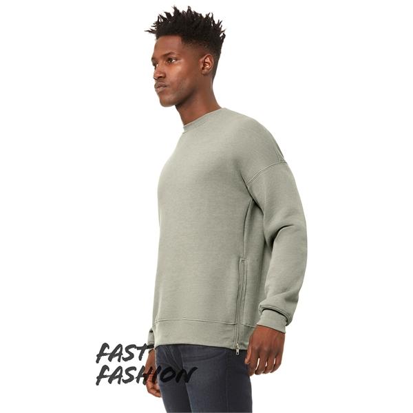 Unisex Crew Neck Sweatshirt with Side Zippers