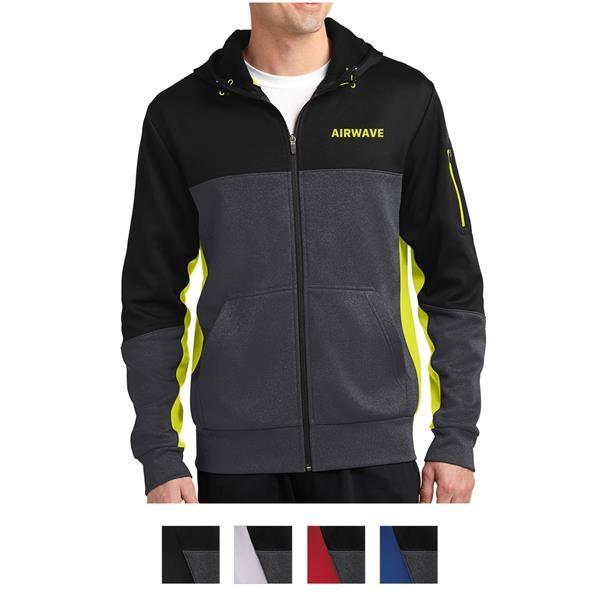 Sport-Tek Tech Fleece Colorblock Full-Zi