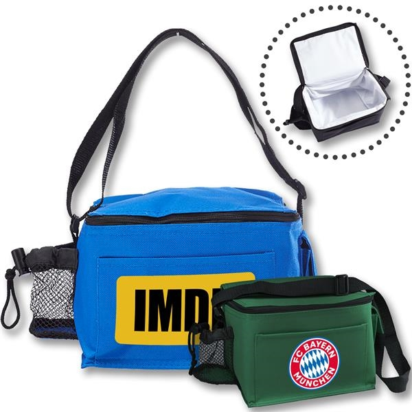 Polyester Insulated Lunch bag w/ Mesh Bo