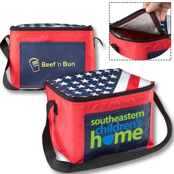 American Flag - Insulated Two tone Lunch