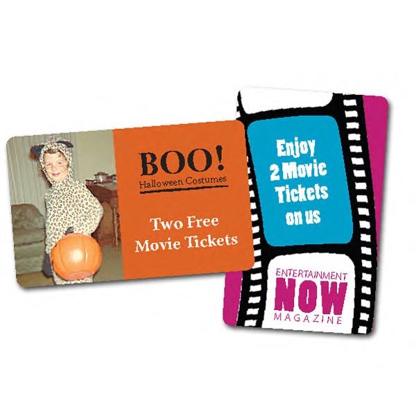Custom Shape movie ticket card