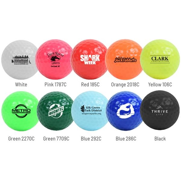 Colored Golf Balls -  Factory Direct