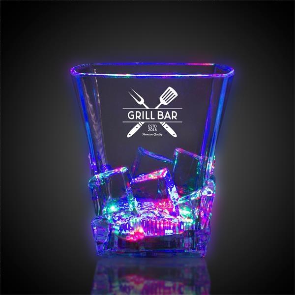 Light Up Whiskey Ice Rocks Glass