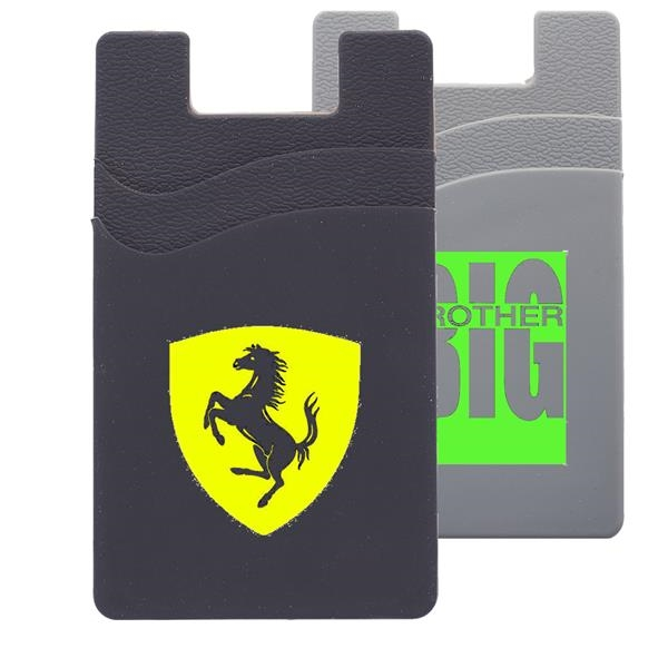 USA Silicone Adhesive Phone Wallet w/ Du