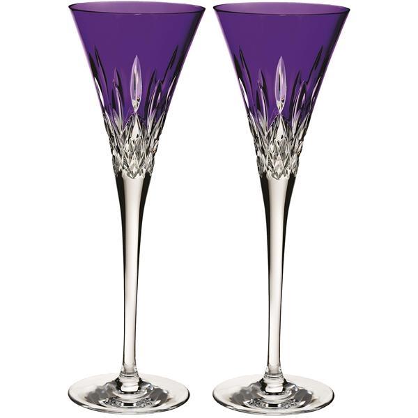 Waterford® Lismore Pops Purple Toasting Flute, Pair