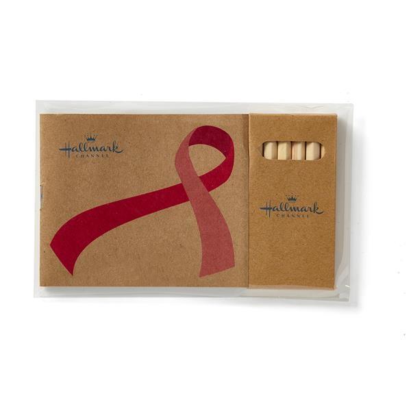 Awareness Ribbon Adult Coloring Book & 6-Color Pencil Set
