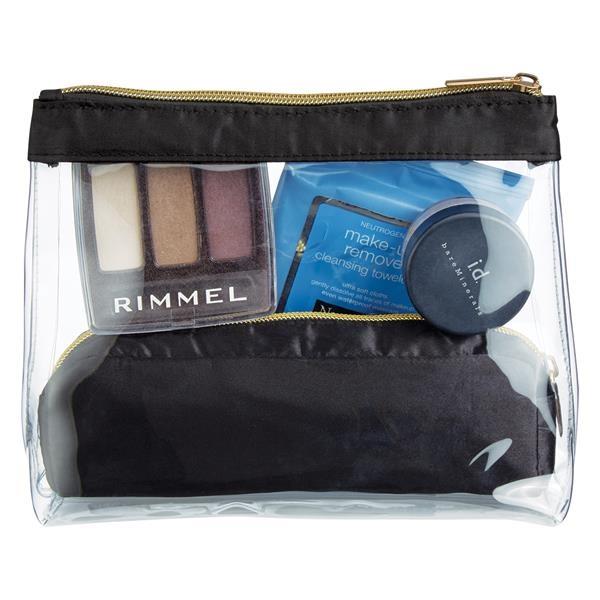 Sadie Satin Cosmetic Bag Set