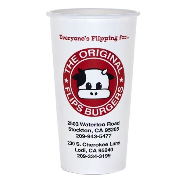 22 oz Disposable Paper Cold Cup