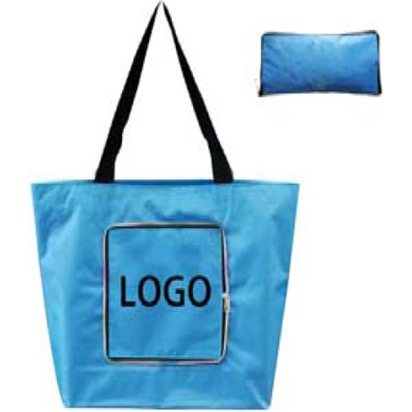 Polyester Foldable Zipper Tote Bag