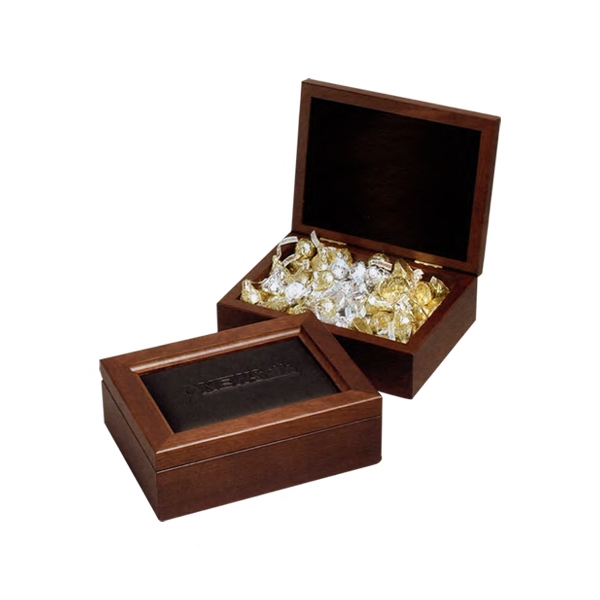 Elegante - Leather Cover - Maple Presentation Box With Velvet Interiors Photo
