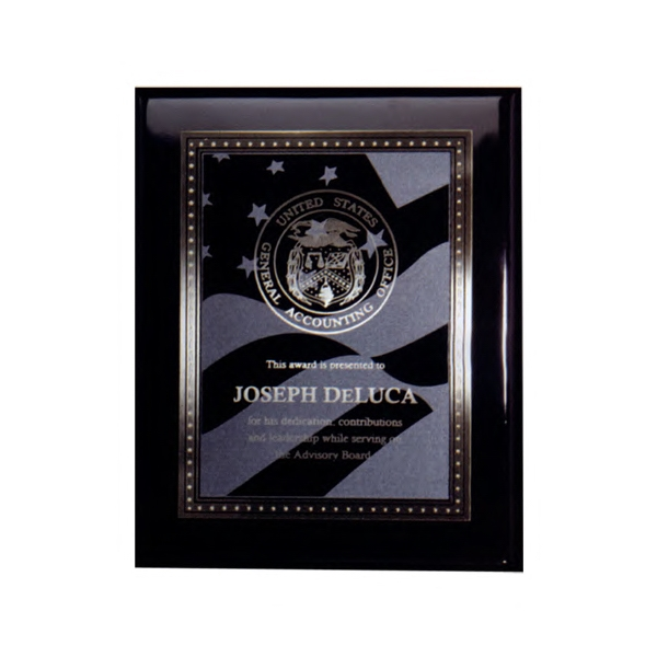 Heritage - High Luster Black Plaque With Plate Photo