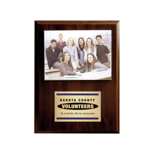 Budget Beater - Simulated Cherry Photo Plaque With Brass Plate Photo