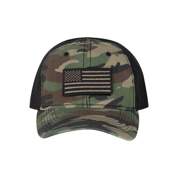 100% Cotton Unstructured Camo Hat