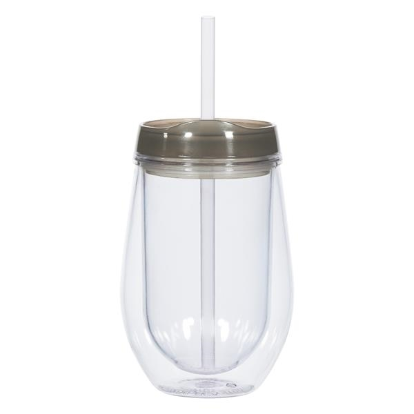 10 Oz. Bev/Go Tumbler - 10 Oz. Bev/Go Tumbler. Made With AS Plastic Material.  Double Wall Construction For Insulation Of Liquids.  Stain-Resistant.