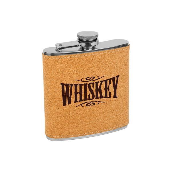 6 oz Stainless Steel Cork Flask