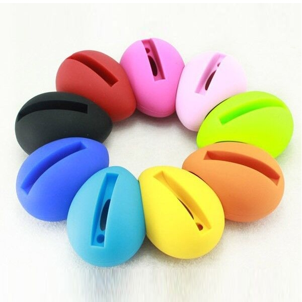 Silicone Egg Shaped Mobile Phone Speaker Stand