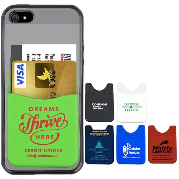 Banker Soft Silicone Cell Phone Wallet