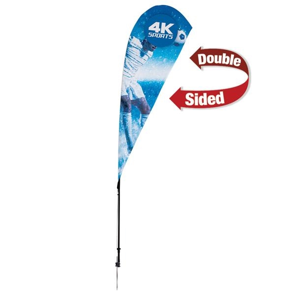 8' Streamline Teardrop Sail Sign, 2-Sided, Ground Spike