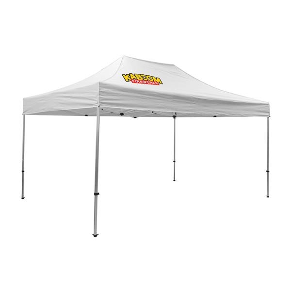 Premium Aluminum 15' Tent Kit (Imprinted, 1 Location)